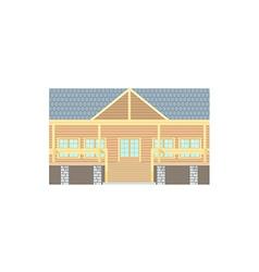 Flat Design Wooden Log Building vector image