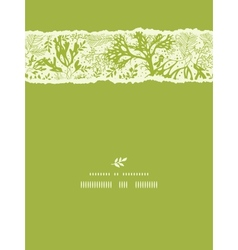 Green underwater seaweed vertical torn seamless vector