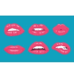 High detailed glossy lips and mouth vector image vector image