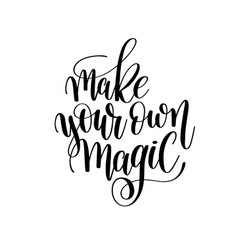 Make your own magic brush ink hand lettering vector