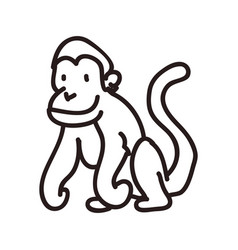 monkey doodle animal vector image