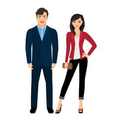 office style fashion couple vector image vector image