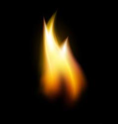 Orange flame tongue element vector