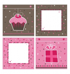 party cards vector image vector image