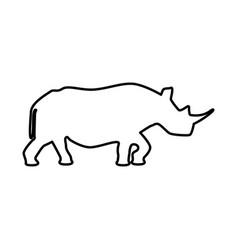 rhinoceros black icon vector image vector image