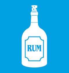 Rum icon white vector