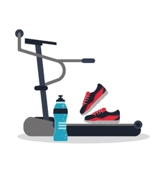 Running machine and healthy lifestyle design vector