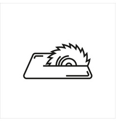 saw icon on white background vector image vector image