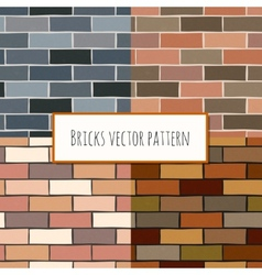 Seamless brick wall rectangular pattern vector
