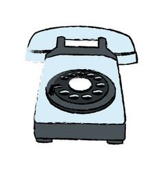 Telephone call talk retro device icon vector