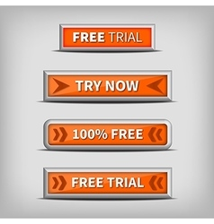 Try now and free trial on 3d orange buttons vector