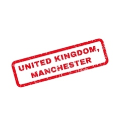United kingdom manchester rubber stamp vector