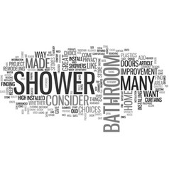 Why not add a shower to your bathroom text word vector