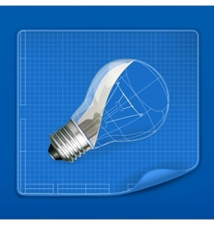 Lamp drawing blueprint vector