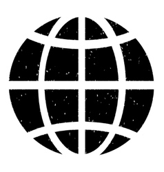 Globe grainy texture icon vector