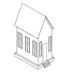 Perspective view of house vector