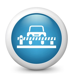 Carpark Glossy Icon vector image
