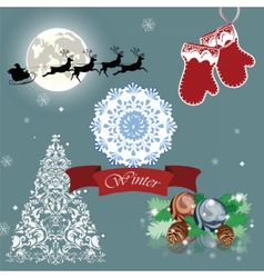 Christmas eve card vector