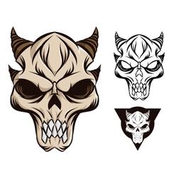Horned skull vector