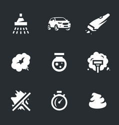 Set of carwash icons vector