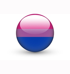 Round icon with bisexual pride flag vector