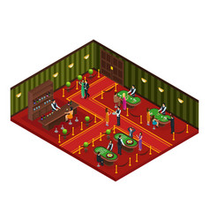 Isometric casino gaming room concept vector