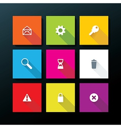 Flat web icon set vector