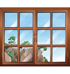 A closed clear window vector