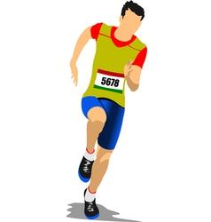 al 0544 running man vector image