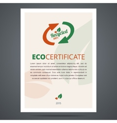 Recycled product or eco certificate vector