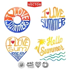 Abstract wtercolor cardbackgroundsummer logo vector