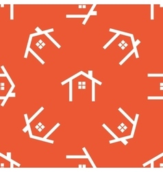 Orange cottage pattern vector