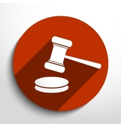 Hammer judge web icon vector