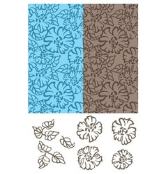 Background of flowers vector