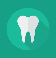 Medical flat icon dentistry symbol vector