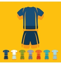 Flat design football clothing vector