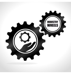 Gears cogs or wheels vector