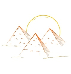 Three pyramids vector