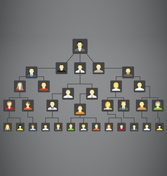 Abstract family tree vector