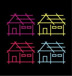 Abstract home logo vector