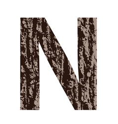 Bark letter n vector