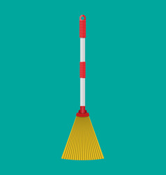 broom with plastic handle household accessories vector image vector image