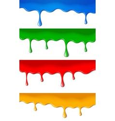 color paints vector image vector image