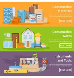 Construction Materials Banners vector image vector image
