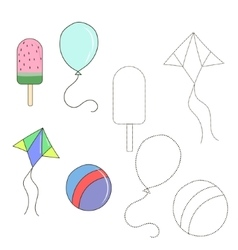 Educational game connect the dots to draw item vector image vector image
