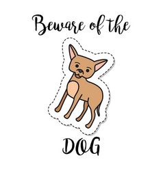 fashion patch element dog vector image vector image