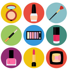 Flat beauty fashoin decorative cosmetics vector