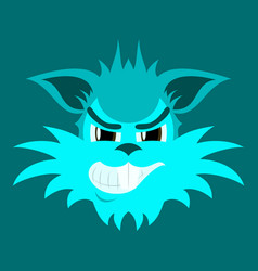 Flat icon on theme evil animal coyote vector
