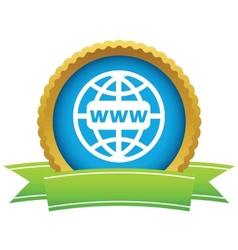 Gold www world logo vector