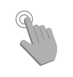 hand cursor clicking icon image vector image vector image